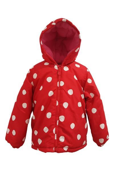 0398df98d700 Girls Red Spot Winter Coat