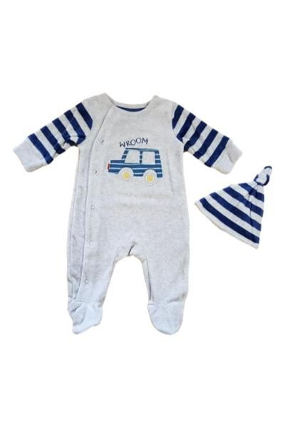 wholesale baby boys velour babygrow
