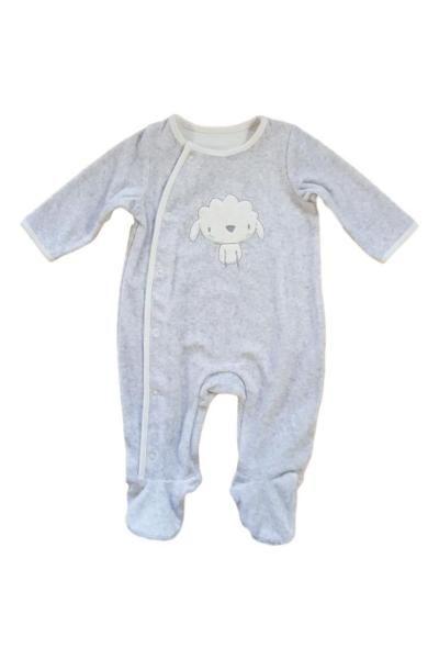 unisex baby velour babygrow