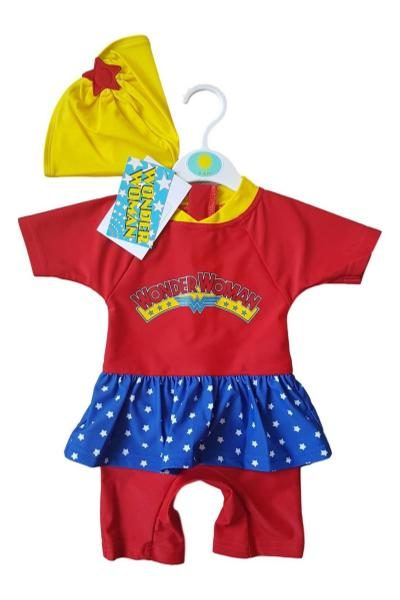 wholesale baby girls wonder woman UV sun safe swimsuit
