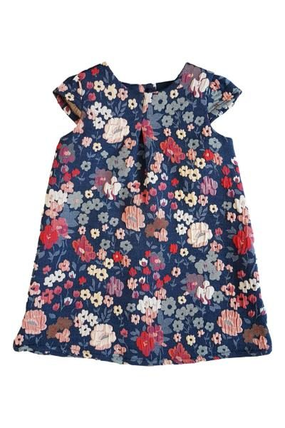 af93fb6af50 Baby   Girls Textured Floral Shift Dress