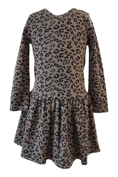 b64293aca73 Girls Leopard Print Skater Dress