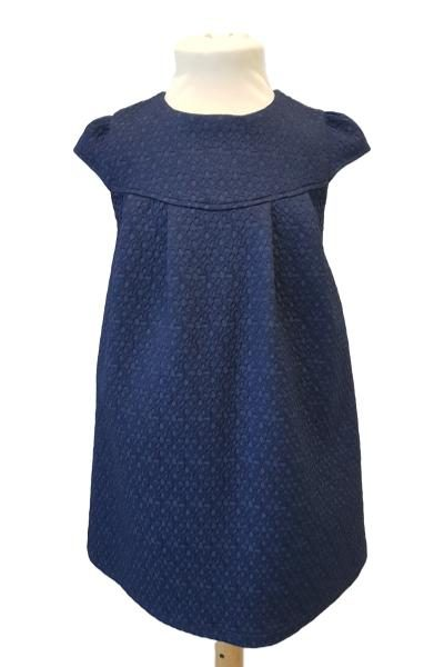 a20b56a0f42 Girls Navy Textured Occasion Dress