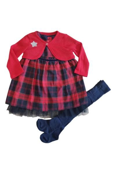 Baby girls winter dress set
