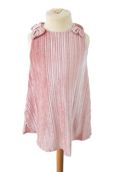 girls pink velour dress